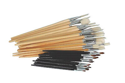 Sax Elementary School Trim Paint Brushes, Assorted Sizes, Pack of 36