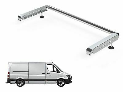 MWB 06-18 Van Guard Ulti Bar 2 Bar Roof Rack and Rear Ladder Roller Kit for Mercedes Sprinter