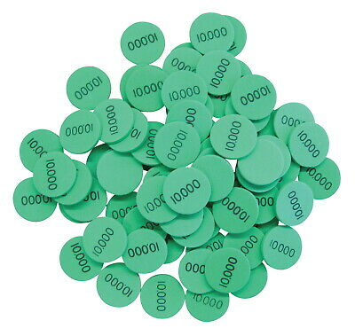 Essential Learning Products Ten Thousands Place Value Disks, Grades 1 - 6