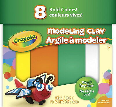 Crayola Modeling Clay, 2 Pounds, 8 Assorted Bold Colors