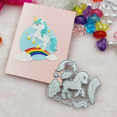 Horse Cutting Dies Stencil Scrapbooking Album Stamp Paper Card Embossing DIY