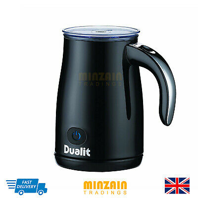 Dualit Electric Milk Frother Heat Hot Cold Froth Chrome Handle Cappuccino Latte