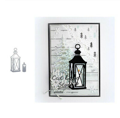 Candle Light Metal Cutting Dies Christmas Stencils DIY Scrapbooking Paper Card