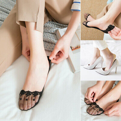 Women Sexy Summer Casual Low Cut Anti-Slip Secret No Show Invisible Lace Socks