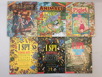 LOOK AND FIND Picture Riddle Books~~Lot 4~~Disney, Thomas, X