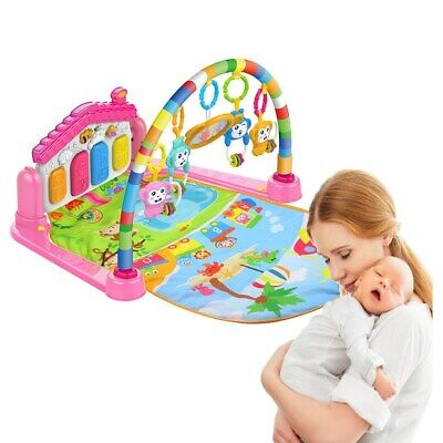 Baby Light Musical Gym Play Mat Lay & Play Fitness Fun Piano 3 in 1 Boy Girl US
