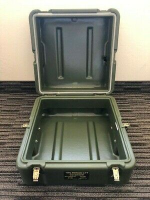 US Military Issue OD Green Hardigg Polymer Storage Case 19x19x12 FREE SHIPPING!