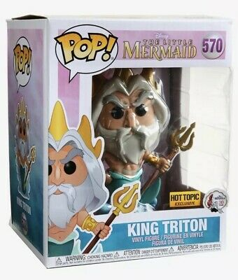 Funko Pop! 570 Disney Little Mermaid King Triton 6 Inch Hot Topic Exclusive