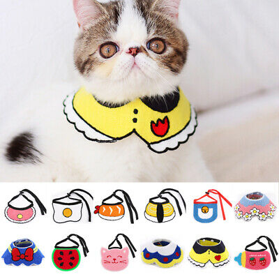 Adjustable Puppy Pet Dog Cat Bibs Bandana Scarf Collar Neckerchief Neck Strap
