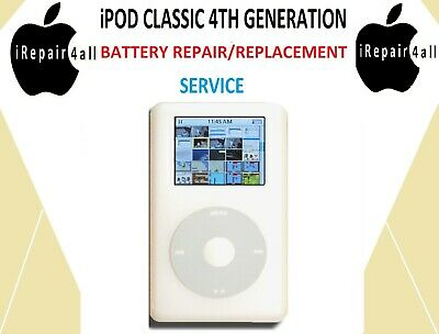 APPLE iPOD CLASSIC 4TH GENERATION BATTERY REPAIR REPLACEMENT SERVICE - £24.99