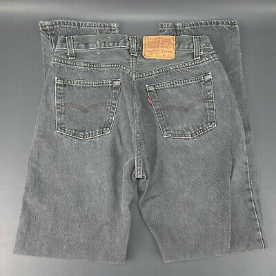Vintage LEVI Strauss & Co. 501 Button Fly Faded Black/ Grey Jeans W31 L32