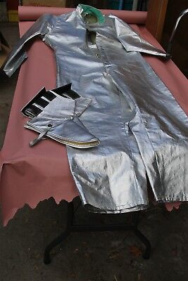 Black Stallion Aluminized  Revco Welding Coverall Size Small with Pair of Spats