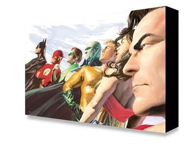 Justice League of America Liberty and Justice Alex Ross Gallery Wrapped Canvas