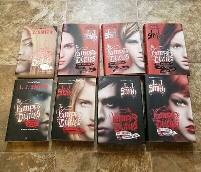 Lot of 8 Mixed Lot of The Vampire Diaries L.J Smith the hunters the return
