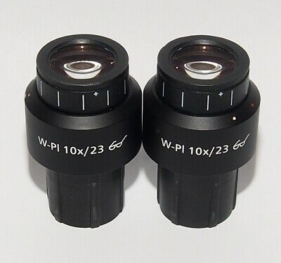 Zeiss 1016-758 W-Pl 10x/23 Focusable Wide Plan 30mm Microscope Eyepiece Set