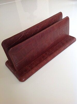 Mulberry Super Rare and exclusive Vintage Nile Leather Letter Rack