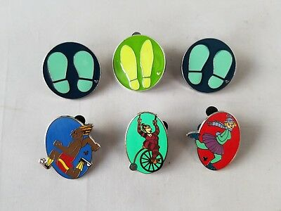 Disney Trading Pins Official Acrobat Theme Hidden Mickey Collectible Lot of 6