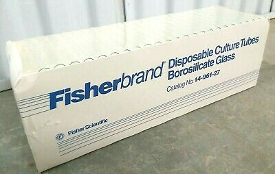 FisherBrand 14-961-27 Glass Disposable Culture Tubes 13 x 100 mm Box of 250