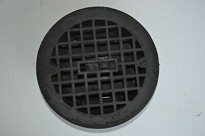 Antique VICTORIAN Cast Iron Floor ROUND Heat Grate Register w/ Louvers