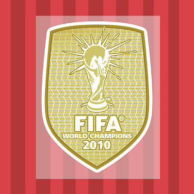 FIFA World Cup Winners 2010 Spain Transfer Patch for Shirt Jersey