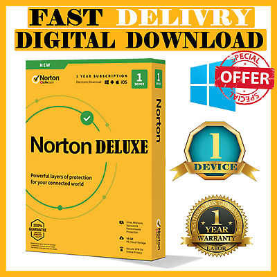 Norton deluxe Security windows 2019🔑1Year🔑1PC 🔥same day delivery🔥