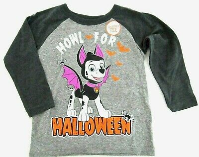Jumping Beans Paw Patrol Howl for Halloween Long Sleeve Shirt Heather Gray 2T