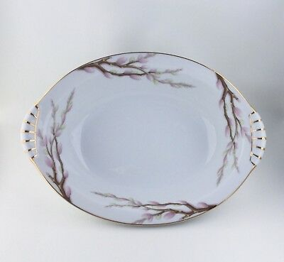 Narumi Norcrest China Pussy Willow Pattern Oval Serving Dish Excellent Condition