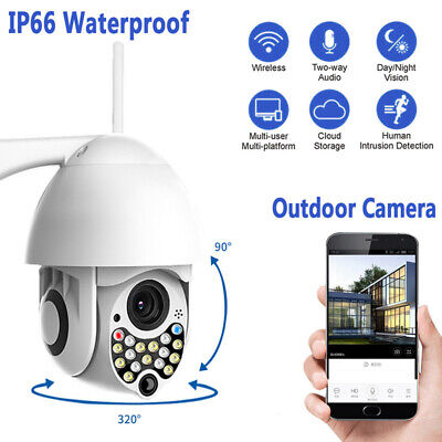 Telecamera Esterna Motorizzata Ir Wifi Ptz Zoom 1080P Hd Ip Camera 17Led 2Mp