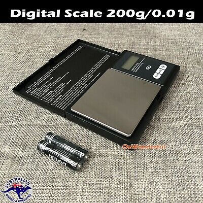 Digital Scale 200g/0.01g Jewelry Gold Silver Coin Gram Pocket Size Herb Grain AU