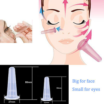 1/5Pcs Silicone Anti Cellulite Massage Cup Vacuum Face Cupping Cup Face Eye Care