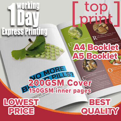 A4 A5 Saddle Stitched Booklets Printing 200gsm cover 150gsm inner paper