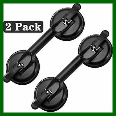 Glass Suction Cups Heavy Duty Aluminum Handle Holder Hooks To Lift LARG Black 02