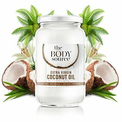 The Body Source 1 Litre Extra Virgin Coconut Oil - 100 Raw and Certified Organi