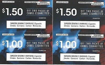 LOT OF 20 Camel Cigarette coupons - (18) $1 off a pack - (2
