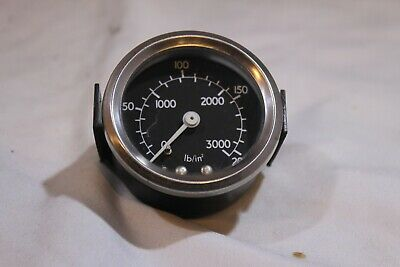 New SuperB 2 inch pressure gauge - many applications lb/in2 Bar. Black face