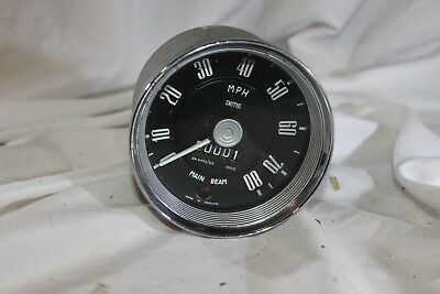 New 80 MHP Speedo. Smiths SN4453/02 1000 With main beam light bulb. Ford Prefect