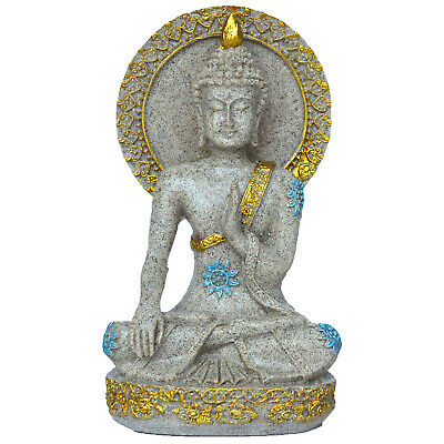 Resin Sandstone Buddha Fengshui Figurine Yoga Meditation Decorative Sculpture
