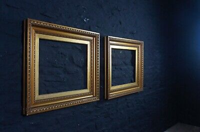 Pair of Large Vintage Picture Frames ~ Gilt Edged with Inner Mounts