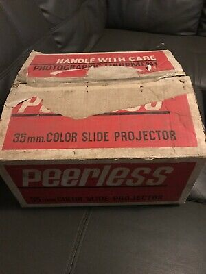 vintage peerless 35mm Color Slide projector In Original Box