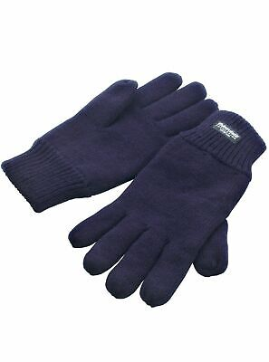 Unisex BLUE Thinsulate™ Insulation Gloves Knitted Thermal Heat Guard™ Ladies UK