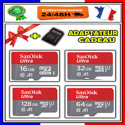 Carte Mémoire Micro SD ✓  Class 10 SDHC 16 32 64 128 Go Gb  ✓Original Sandisk ✓
