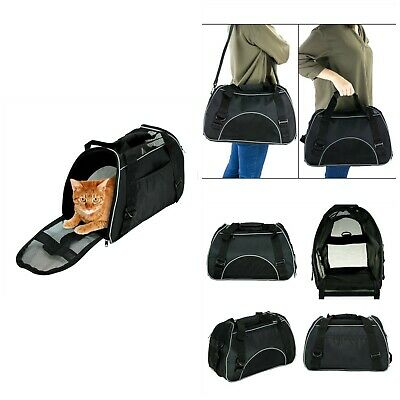 Airline Approved Small Pet Carrier Cats Soft Sided Carriers Travel Bags Black