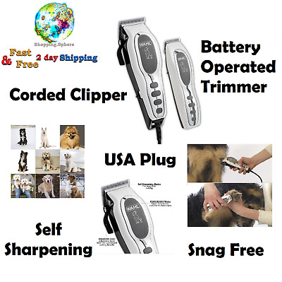 Wahl Pet Grooming Kit Electric Hair Shears Clipper Dog Cat Trimmer Combo Pets