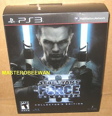 Star Wars The Force Unleashed II Collectors Edition PlayStation 3 PS3 New Sealed