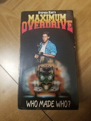 Stephen Kings Maximum Overdrive VHS tape  in plastic never been viewed!! NEW