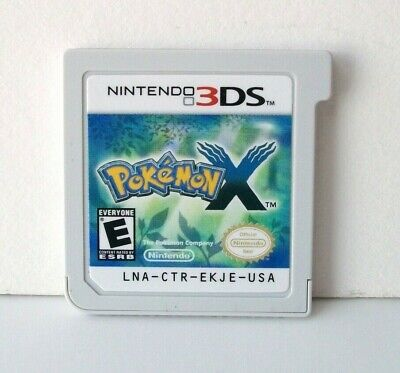 Pokemon X (Nintendo 3DS) Game Cartridge Only Good Label RPG Xerneas Kids 2013