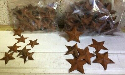 """200 Rusty Barn Stars (100) 1.5"""" & (100) 2.25"""" Country Rust Craft WEEKLY SPECIAL"""