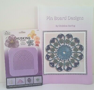 New PIN BOARD DESIGNS Pattern Book PLUS Husking Board Combo-Save $$