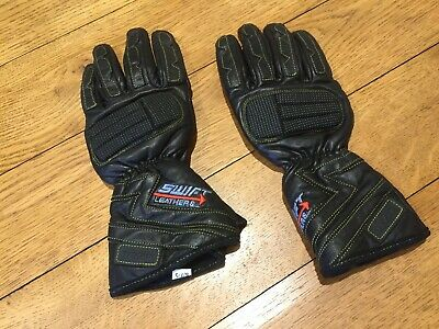 Swift Leathers Motorbike Gloves Black Leather Akito S / 7-5