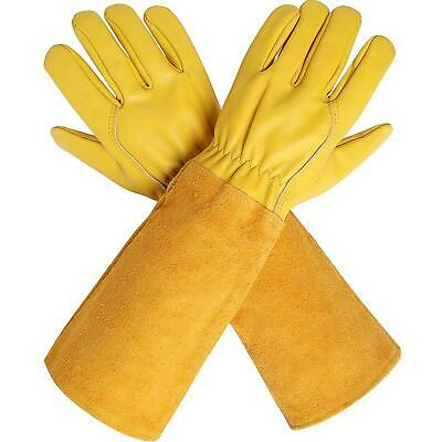 Extra Long Hand Gloves With Cowhide Sleeves For Men And Women, XL:5.12-5.13'' W